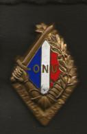 """Militaria / Insigne épingle """" BATAILLON FRANCAIS ONU """"  Numéroté  2291 R. Louis /  ARTHUS BERTRAND PARIS H 793 - Heer"""