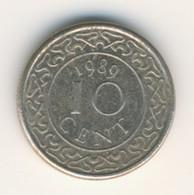 SURINAME 1989: 10 Cent, KM 13a - Surinam 1975 - ...