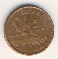 GUAYANA 2012: 5 Cents, KM 51 - Guyana