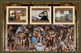 Guinea 2012 - Great Italian Masters Paintings I. Y&T 6499-6501, Mi 9448-9450 - Guinea (1958-...)