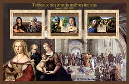 Guinea 2012 - Great Italian Masters Paintings II. Y&T 6502-6504, Mi 9451-9453 - Guinea (1958-...)