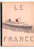 Paquebot France Brochure Cour D'instruction 20 Pages Très Très Rare - Otros