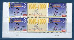 """Polynésie Coins Datés YT 601A Paire Vignette """" Institut Malardé """" Neuf** Du 31.8.1999 - Französisch-Polynesien"""