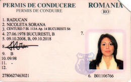 Romania, 2008, Expired Vehicle Driving License / ID Card - Documentos Históricos