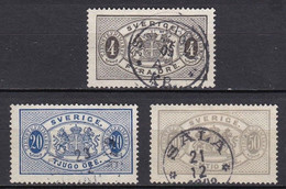 S327 – SUEDE – SWEDEN – 1891 – NEW VALUES FULL SET - Y&T # 16/8 USED - Service