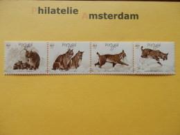 Portugal 1991, WWF FAUNA IBERIAN LYNX PARDELLYNX: Mi 1741-44, ** - Unused Stamps
