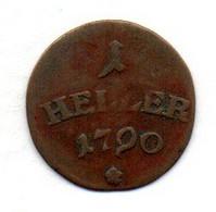 GERMAN STATES - SAXE-WEIMAR-EISENACH, 1 Heller, Copper, Year 1790, KM #C55 - Kleine Munten & Andere Onderverdelingen