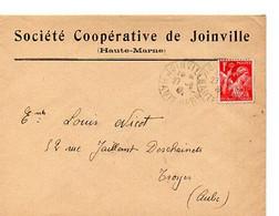 E 7   1940 ?  Lettre Entete Société Coopérative De Joinville - 1921-1960: Periodo Moderno