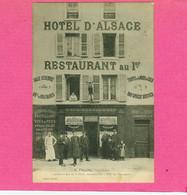 RARE CP.  54. NANCY.  HOTEL  D'ALSACE. 11 FAUBOURG STANISLAS. PROPRIETAIRE FRELING. CLICHE JACOBS - Nancy