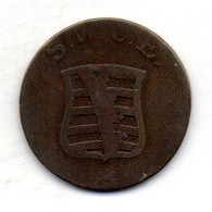 GERMAN STATES - SAXE-WEIMAR-EISENACH, 2 Pfennig, Copper, Year 1792, KM #C58 - Kleine Munten & Andere Onderverdelingen