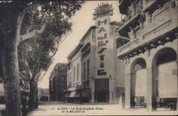 CPA Algérie Alger La Rue Eugène Robe Et Le Majestic - Algiers