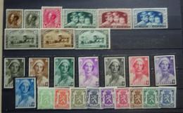 BELGIE 1934-35    Van Nr. 401  Tot 426  (zonder 410)   Spoor Van Scharnier *   CW 26,75 - Nuevos