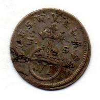 GERMAN STATES - SAXE-WEIMAR-EISENACH, 6 Pfennig, Billon, Year 1756, KM #C15 - Kleine Munten & Andere Onderverdelingen