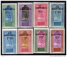 Haute Volta  N ° 33 / 40 X  La Série Des 8 Valeurs Surchargées, Trace De  Charnière Sinon  TB - Unused Stamps