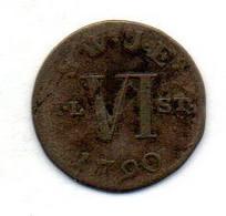 GERMAN STATES - SAXE-WEIMAR-EISENACH, 6 Pfennig, Billon, Year 1790 - Kleine Munten & Andere Onderverdelingen