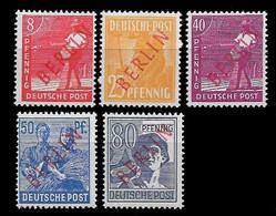 1949 BERLIN Mi. 23, 27, 29, 30, 32  - ÜBERDRUCK FALSCH - ** POSTFRISCH - Für Echt € €455 - Ungebraucht