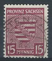 PP-/-329-. Ref. Michel - Provinz-Sachsen N° 80 X, Obl. FILIGRANE \\\, Wz 1 X, COTE 700.00 €, K = 13 X 12 ½, VOIR VERSO - Sovjetzone