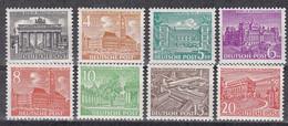 Men_ Berlin 1949 - Mi.Nr. 42 - 49 - Postfrisch MNH - Ungebraucht