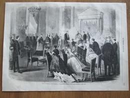 Gravure 1868 CHAPELLE DES TUILERIES     PREMIERE COMMUNION DU PRINCE IMPERIAL - Zonder Classificatie