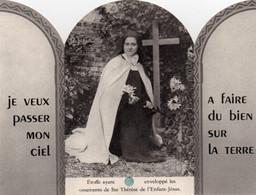 Carte Religieuse  Relique    STE THERESE DE L' ENFANT - JESUS   Linge Ayant Enveloppé Les Ossements - Religión & Esoterismo