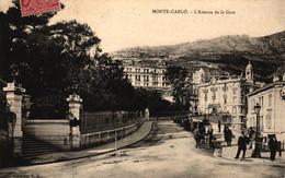 Monte Carlo, L` Avenue De La Gare, 1908 - Monte-Carlo