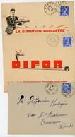 JURA 1957/58 ENV X3 RECETTE DISTRIBUTION SCANS ET DESCRIPTIONS =>  JURA ENV 1957 ST LAURENT LA ROCHE RECETTE DISTRIBUTIO - 1921-1960: Periodo Moderno