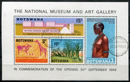 Botswana Mi# Block 1 Gestempelt/used - Art Gallery, National Museum, Rock Paintings - Botswana (1966-...)
