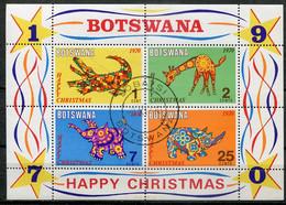 Botswana Mi# Block 4 Gestempelt/used - Christmas - Botswana (1966-...)