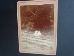 CDV ANCIENNE ANNÉES 1880. PHOTOGRAPHIE ORIGINALE PORTRAIT DE 2 BEBES. - Oud (voor 1900)