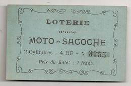 BILLET DE LOTERIE D'UNE MOTO SACOCHE 2 CYLINDRES 4HP  / PUB DIANO LE VERITABLE AMERICANO  C1242 - Motorfietsen
