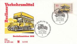 FDC GERMANY Berlin 448 - Bus