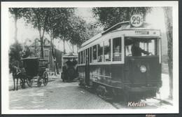 Format CPA - Photo Cartonnée Tirage Tardif - Paris - Tramway De La Ligne 29 C Pantin - See 2 Scans - Tramways