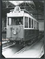Format CPA - Photo Cartonnée Tirage Tardif - Paris - Tramway De La Ligne 58 St-Germain - Porte De Neuilly - Tramways
