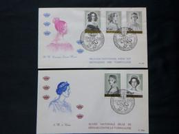 "BELG.1962 1234-1235/38 FDC (Brux-Brussel) : "" Koninginnen / Reines Des Belges "" - 1961-70"