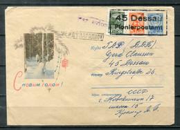"""F0542 - UdSSR / DDR - Ganzsachen-Umschlag Mit Zusatz-Frankatur - Gestempelt """"45 Dessau / Pionierpostamt"""" - 1960-69"""
