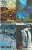SWITZERLAND - PHONE CARD - PRÉPAIDS SUISSE *** 4 X MULTICARDS & PAYSAGES / 6 *** - Paysages