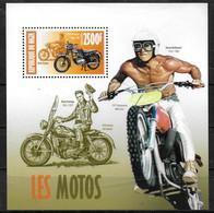 Niger, 2013, Motorcycles, Bob Dylan, Steve McQueen, Elvis Presley, MNH, Michel Block 203 - Niger (1960-...)