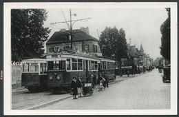 Format CPA - Photo Cartonnée Tirage Tardif - Paris - Tramway De La Ligne 11b - Pierrefitte - Tramways