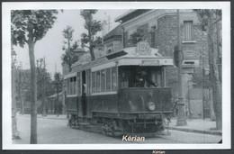 Format CPA - Photo Cartonnée Tirage Tardif - Paris - Tramway Ligne 126 Porte D'Orléans - Porte De St-Cloud - Tramways