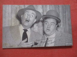 Blank Back     Bud Abbott  & Low Costello    Ref 4411 - Artistas