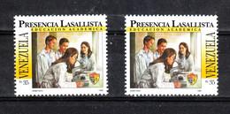 Venezuela -1995. Collegio La Salle. Studenti Al Microscopio. Students Under The Microscope. MNH - Química