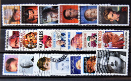 USA US - 20 Visual Art Performers Differents Stamps Used - Sammlungen