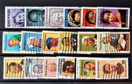 "USA US - 18 ""black Heritage"" Differents Stamps Used - Sammlungen"