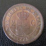 Espagne / Espana - Monnaie 2 Centimos 1905 - SPL / FDC - [ 1] …-1931 : Regno