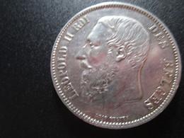 5 Francs Belge Argent Leopold 2 1870 Tres Belle - 1865-1909: Leopoldo II