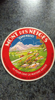 """Couvercle Boite Fromage -   """" MONT DES NEIGES """" 45 % MAT G - Dosen"""