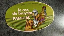 """Couvercle Boite Fromage -   """" LE COQ DE BRUYERE """" Fabriqué Le Tholy - Dosen"""
