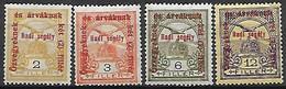 HONGRIE   -   1915 .   Y&T N° 143 - 144 - 146 - 148 * - Nuovi