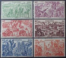 R2062/128 - 1946 - COLONIES FR. - INDOCHINE - POSTE AERIENNE - SERIE COMPLETE - N°40 à 45 NEUFS* - Airmail