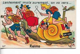 REIMS - Carte à Système - Cliché Peu Courant - Reims